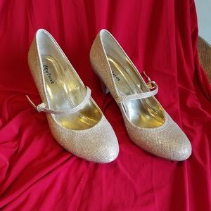 Size 10 Gold Sparkly Heels